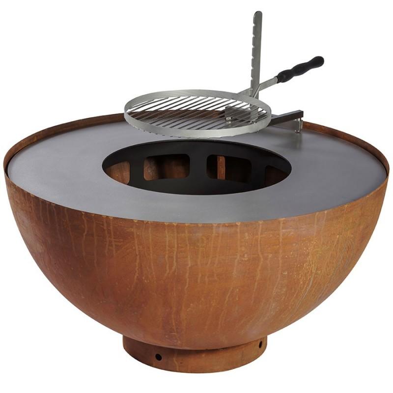 brasero barbecue plancha feu du jardin boule. Black Bedroom Furniture Sets. Home Design Ideas