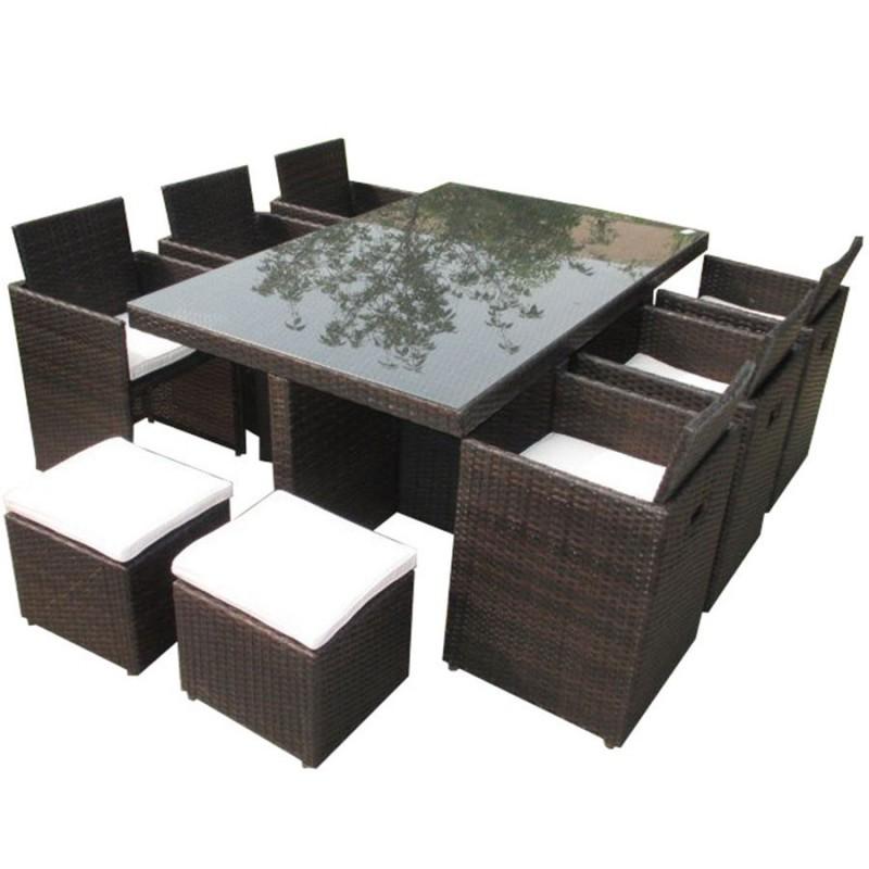Salon de jardin encastrable dcb garden 10 places avec - Salon de jardin encastrable 10 places ...