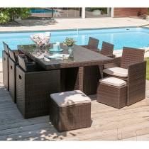 Salon de jardin encastrable DCB GARDEN 10 places avec plateau en ...
