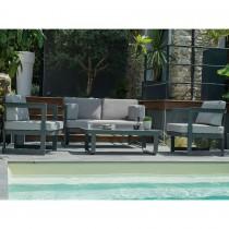 Salon de jardin DCB GARDEN BARCELONA 4 places en aluminium - GRIS ANTHRACITE