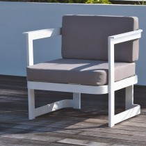 Salon de jardin DCB GARDEN BARCELONA 2 places en aluminium - BLANC