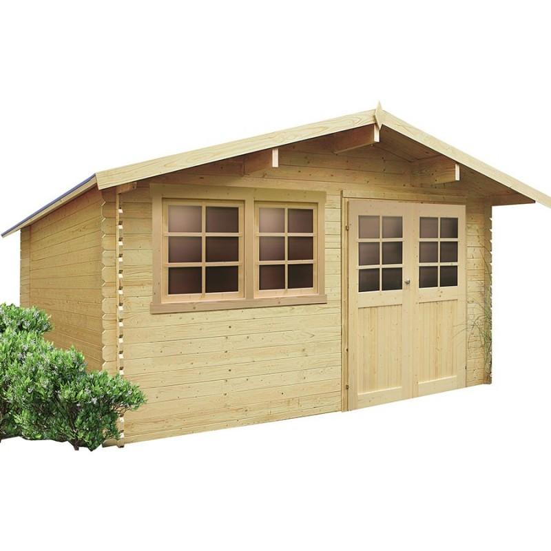Abri de jardin en bois emboîté SOLID NIORT 12.46m²