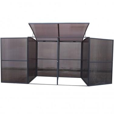 cache poubelles en bois m tal ou pvc. Black Bedroom Furniture Sets. Home Design Ideas