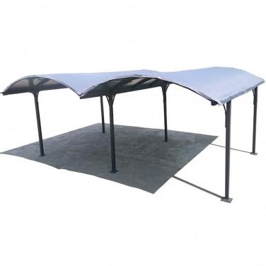 double carport voiture en aluminium toit rond. Black Bedroom Furniture Sets. Home Design Ideas