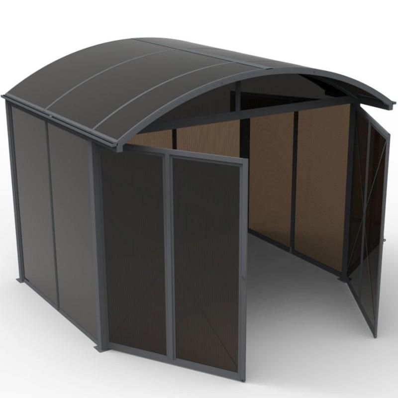 Abri de jardin aluminium refermable intégralement, surface 7.20m²