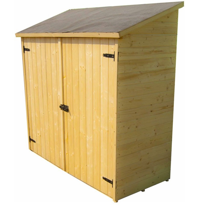 coffre de rangement en bois grand volume avec tag res. Black Bedroom Furniture Sets. Home Design Ideas