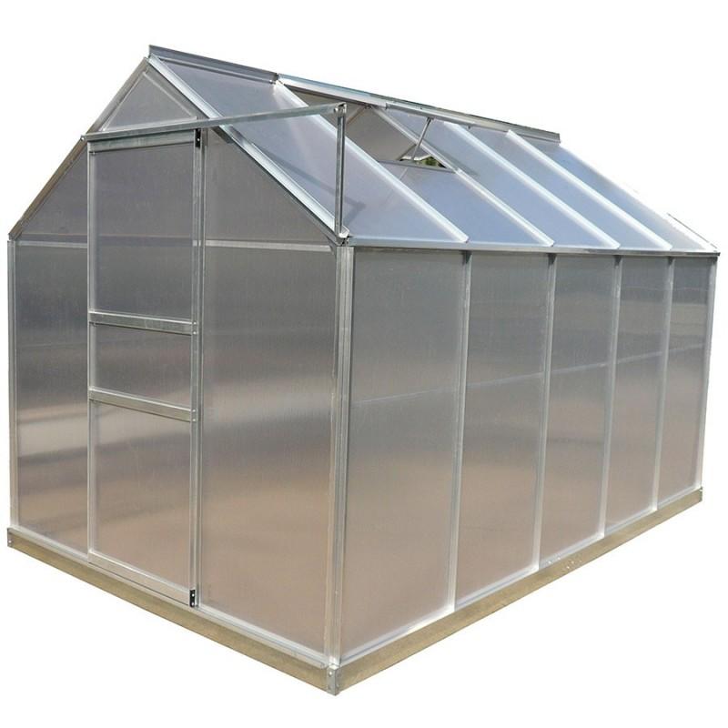 Serre De Jardin Structure Aluminium 603m² Avec Base Et Double