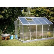 Serre de jardin structure aluminium 6.03m² avec base et double ...