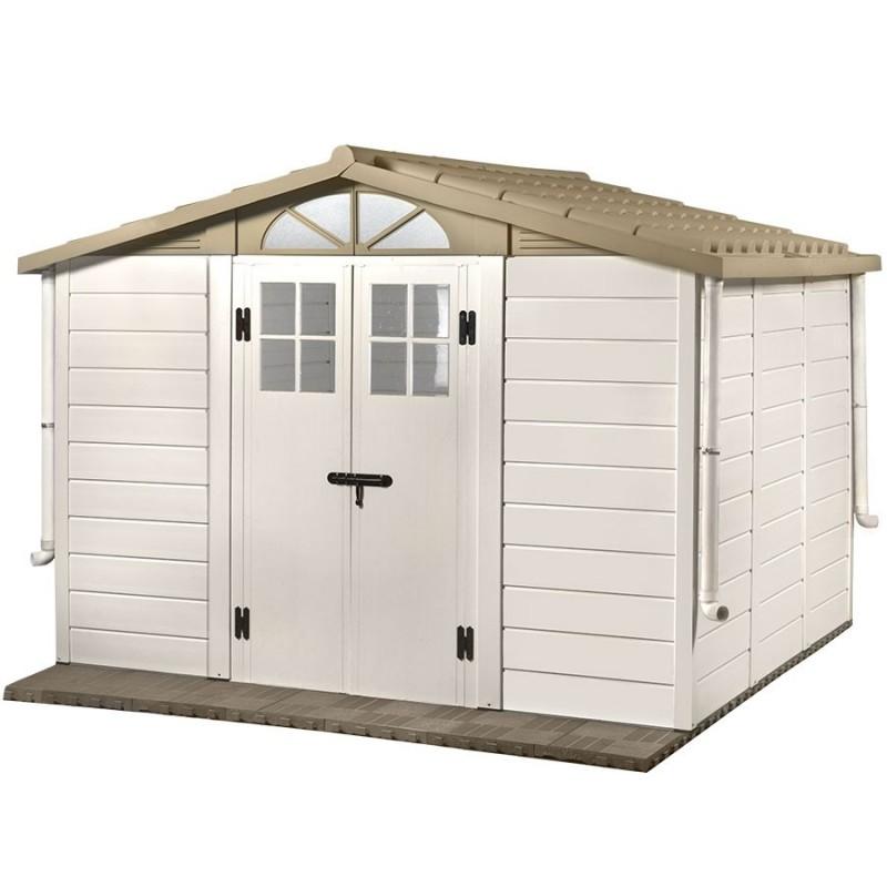 abri de jardin mural en r sine avec plancher et toit double pente. Black Bedroom Furniture Sets. Home Design Ideas