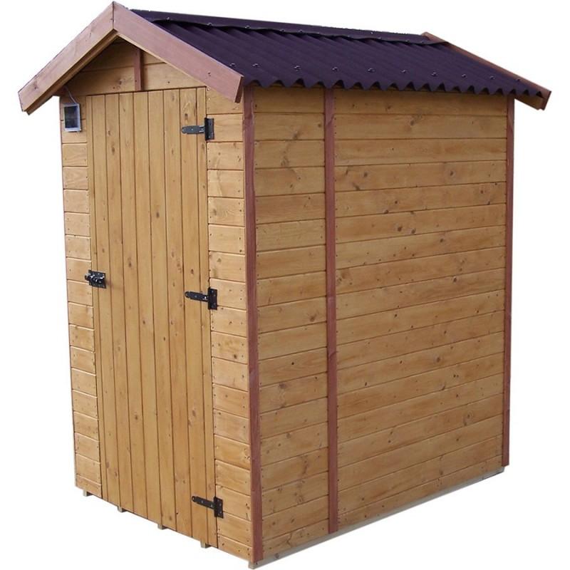 Abri toilettes s ches en bois massif avec plancher for Plancher bois pour terrasse exterieur