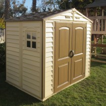 abri de jardin en pvc duramax woodstyle. Black Bedroom Furniture Sets. Home Design Ideas