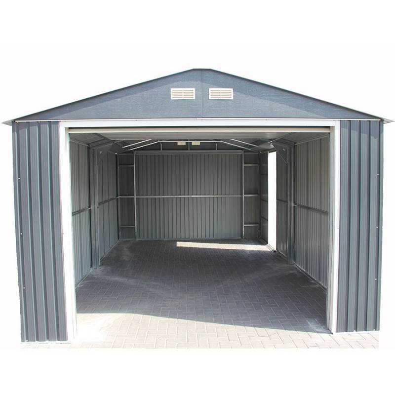 Garage m tal grande hauteur duramax anthracite for Hauteur garage