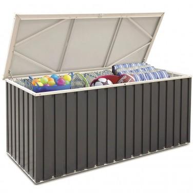 Coffre de jardin en r sine capacit 1100 litres avec plancher dalle composite - Coffre de jardin grande capacite ...