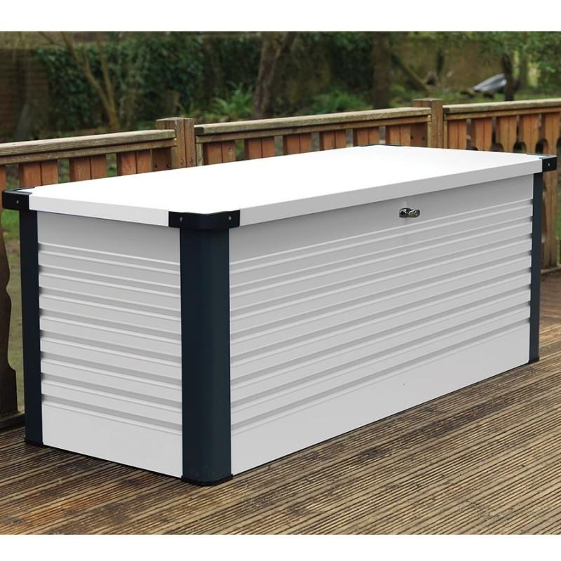 coffre de jardin en m tal patiobox small. Black Bedroom Furniture Sets. Home Design Ideas