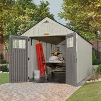 abri de jardin poly thyl ne suncast woodgrain plancher tag res offerts. Black Bedroom Furniture Sets. Home Design Ideas