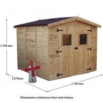 abri de jardin avec plancher bois et toiture en plaques ondul es. Black Bedroom Furniture Sets. Home Design Ideas