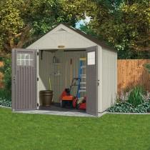 Abri de jardin polyéthylène Suncast Woodgrain 3.45m², plancher + ...